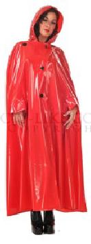 damen lack regenmantel